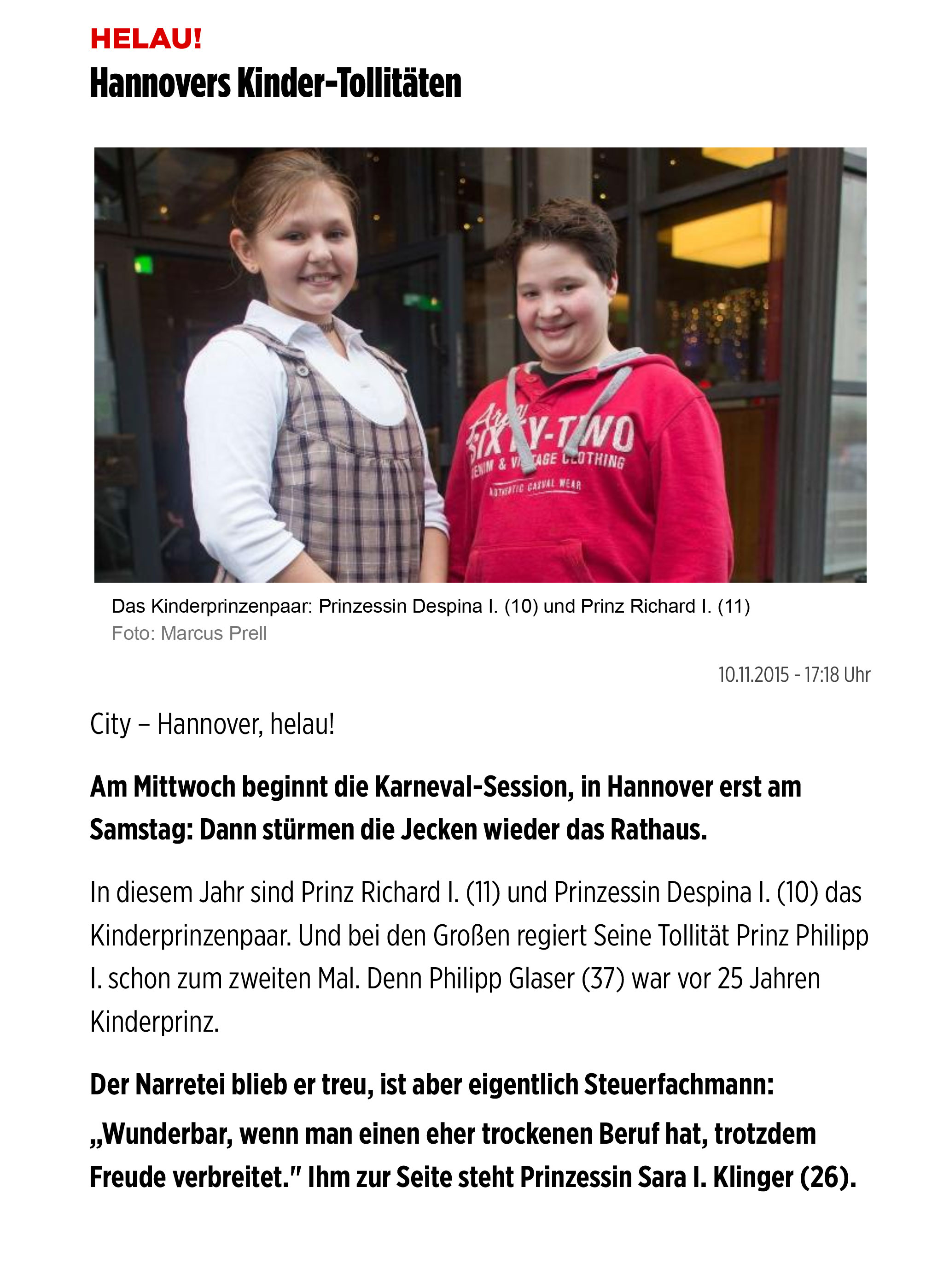300Helau!-Hannovers-Kinder-Tollitäten---Hannover---Bild